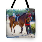 Post-time Parade Tote Bag