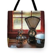Postage Scale And Rubber Stamps Tote Bag