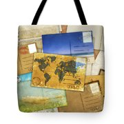 Postcard And Old Papers Tote Bag