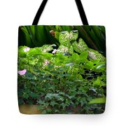 Potted Shades Of Green Tote Bag