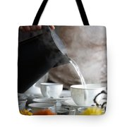 Pouring Hot Water Tote Bag