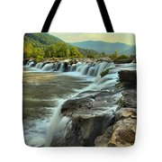 Pouring Over Sandstone Tote Bag