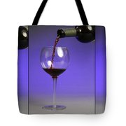Pouring Wine Tote Bag