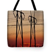 Power Towers At Sundown Tote Bag