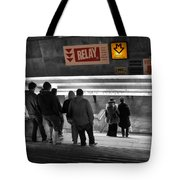 Prague Underground Station Stairs Tote Bag by Stelios Kleanthous
