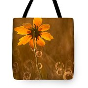 Prairie Coreopsis And Dewdrops Tote Bag