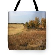 Prairie Fields In Autumn Tote Bag