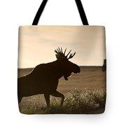 Prairie Moose Tote Bag