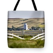 Prairie Town With Elevator Tote Bag