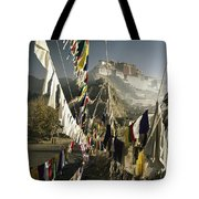 Prayer Flags Hang In The Breeze Tote Bag