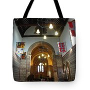 Praying At The St Mary Church Inside Dover Castle In England Tote Bag