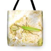 Praying Mantis On A Flower Boquet Tote Bag