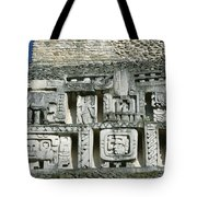 Pre-columbian Stone Ruin With Relief Tote Bag