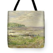 Preaching Of St. Columba Iona Inner Hebridies Tote Bag by William McTaggart