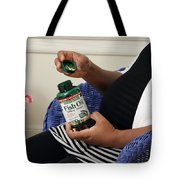 Pregnant Woman Taking Fish Oil Tote Bag