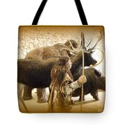 Prehistoric Man And Friends Tote Bag