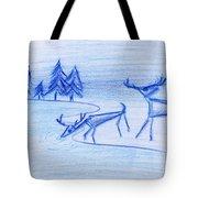 Prehistoric Scenic Tote Bag