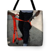 Preparing To Fit The Harness Tote Bag