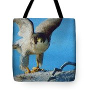 Preparing To Fly Off Tote Bag