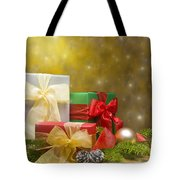 Presents Decorated With Christmas Decoration Tote Bag