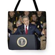President George W. Bush Speaks Tote Bag by Stocktrek Images