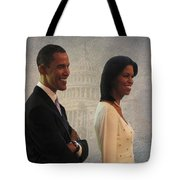 President Obama And First Lady Tote Bag by David Dehner