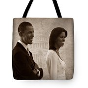 President Obama And First Lady S Tote Bag by David Dehner