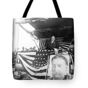 President Taft Giving A Speech In Augusta - Georgia C 1910 Tote Bag