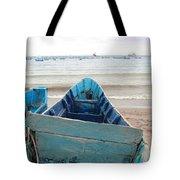 Pretty Blue Boat Tote Bag