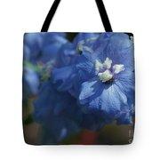 Pretty Blue Delphinia Tote Bag