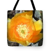 Prickly Pear Cactus Flower Tote Bag