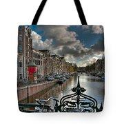 Prinsengracht And Leidsestraat. Amsterdam Tote Bag