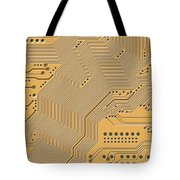 Printed Circuit Tote Bag by Michal Boubin