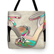 Printed Leather And Stones Tote Bag