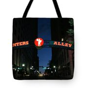 Printers Alley In Nashville Tote Bag