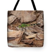 Profile Of Green Dragonfly Tote Bag