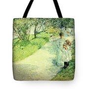 Promenaders In The Garden Tote Bag