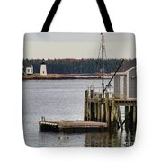Prospect Harbor Lighthouse Tote Bag by Jack Schultz