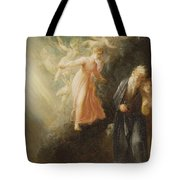 Prospero - Miranda And Ariel  Tote Bag by Thomas Stothard