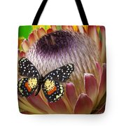 Protea With Speckled Butterfly Tote Bag