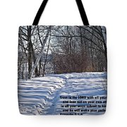 Proverbs 3 V 5 And 6 Tote Bag