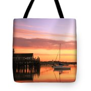 Provincetown Harbor Before Sunrise Tote Bag