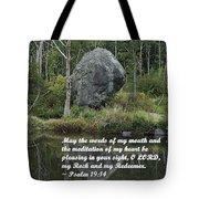Psalm 19 V14a Tote Bag