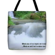 Psalm 51 2 Tote Bag by Kristin Elmquist