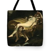Psyche Transported To Heaven Tote Bag