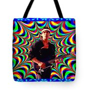 Psychedelia Within A Blue Framework Tote Bag