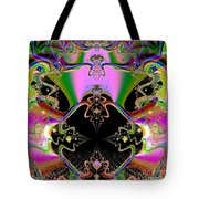 Psychedelic Blackhole Birthday Party Fractal 120 Tote Bag