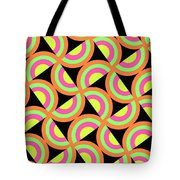 Psychedelic Squares Tote Bag by Louisa Knight