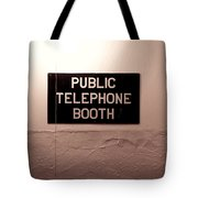 Public Phone Booth Tote Bag