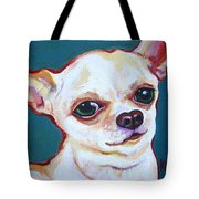 White Chihuahua - Puddy Tote Bag